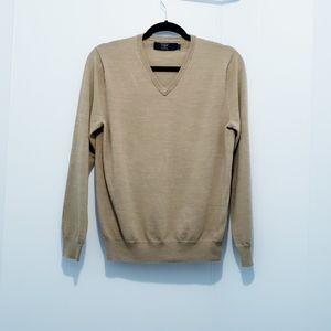 J.crew Merino Wool Tan Pullover Sweater Size S
